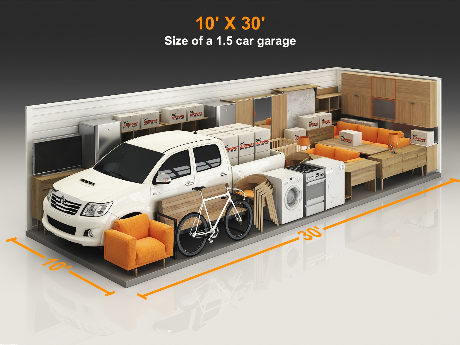 Self Storage 3D layout design for website and print