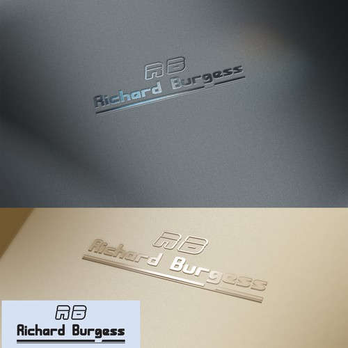 Clean and stylish Logo For Rechard Burgess