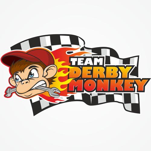 "Create a logo for ""Team Derby Monkey"" racing team"