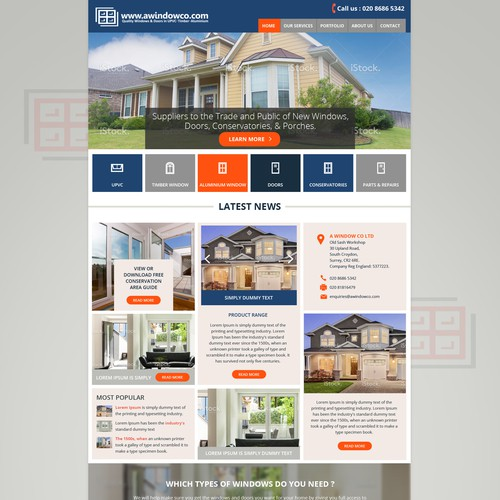 Homepage revamp - creatively combine image and text - information at a glance.