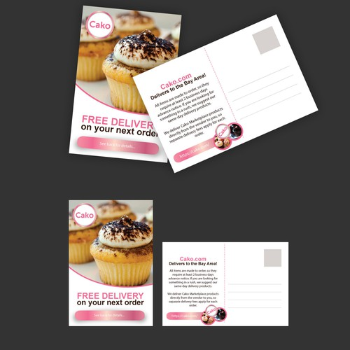 Cako - cake and cupcake flyer