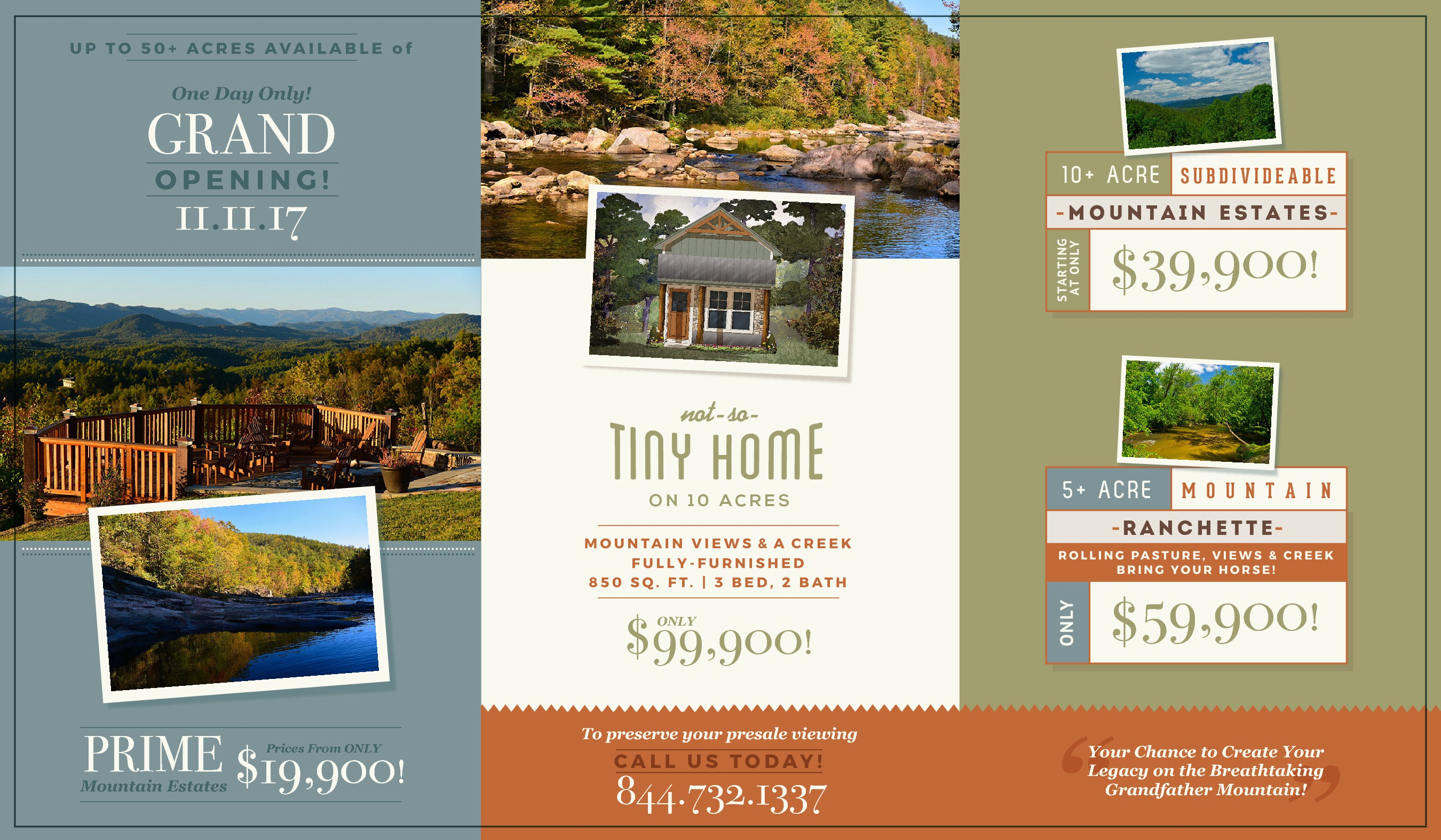 Quaint North Carolina mountain community needs a flyer for a One Day Only sales event.