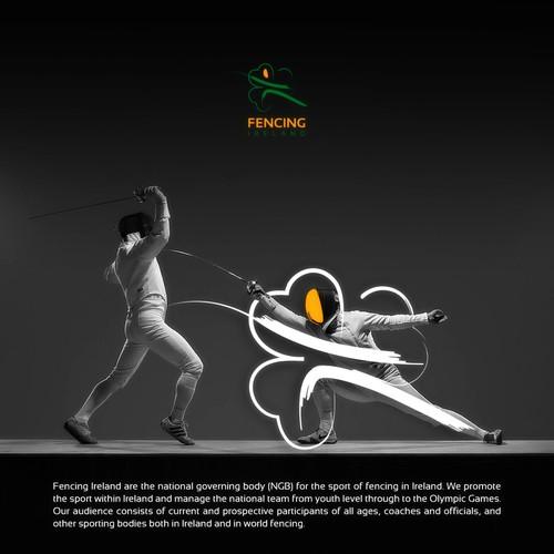 Fencing Ireland Logo Design