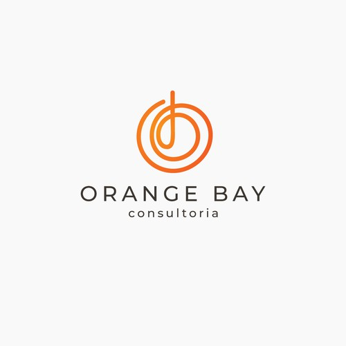 typographic logo for a business consulting firm
