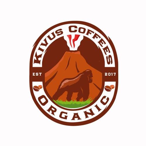 Logo for organic coffes company