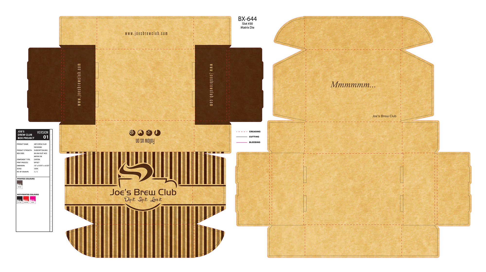 Need a stylish box design for my delivery coffee company!
