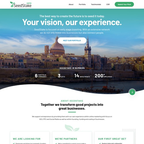SeedStake Ltd - New Corporate Homepage