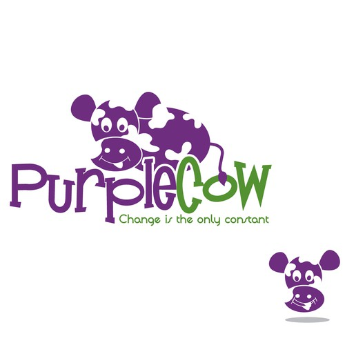 Create the next logo for Purple Cow