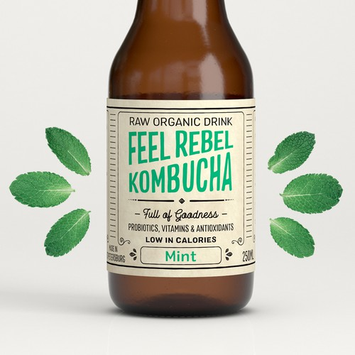 Kombucha Label Design