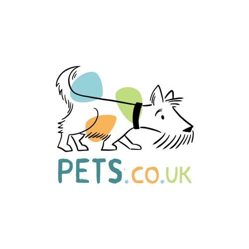 Quirky dog logo