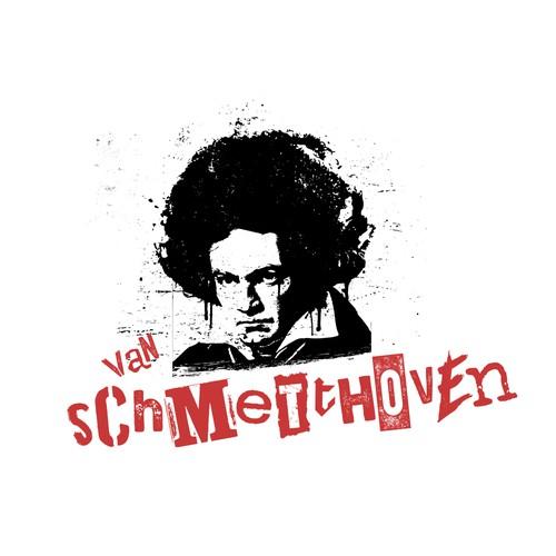 bold graffiti stencil logo for punk band