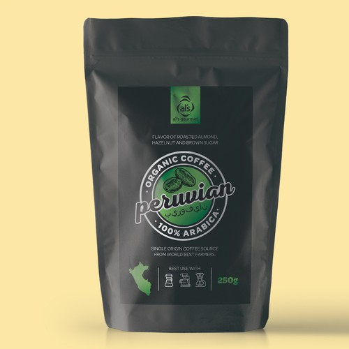 Organic coffee packaging