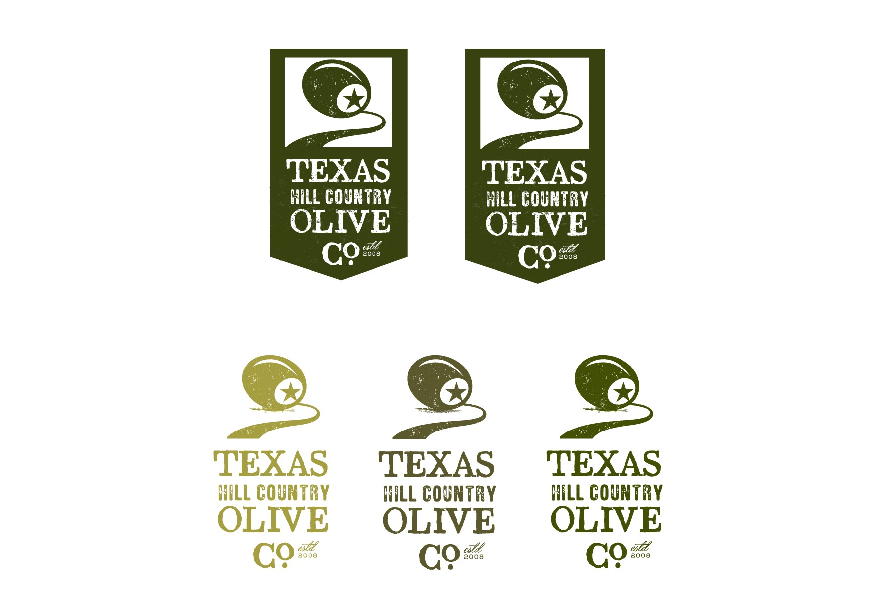 Update and refresh an existing logo for a top Texas olive oil producer.