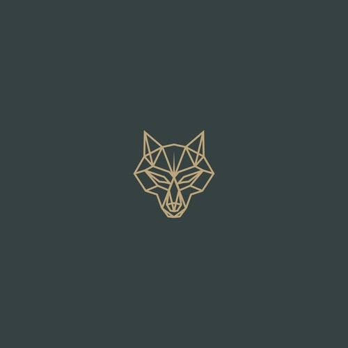 Elegant Line Art Wolf Logo Design For Company