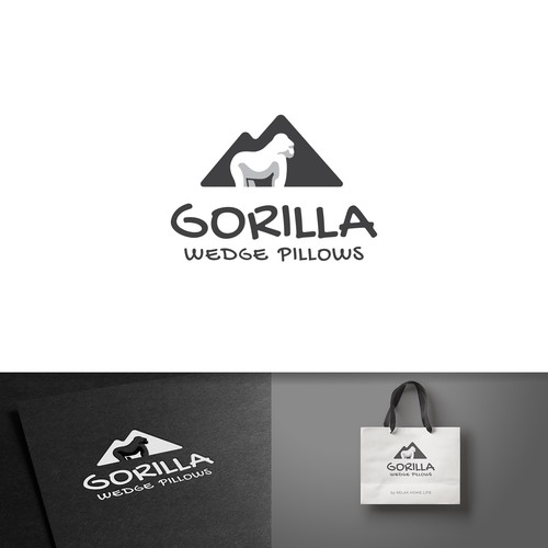 One of the concepts created for a company selling pillows with a mountain theme behind the brand