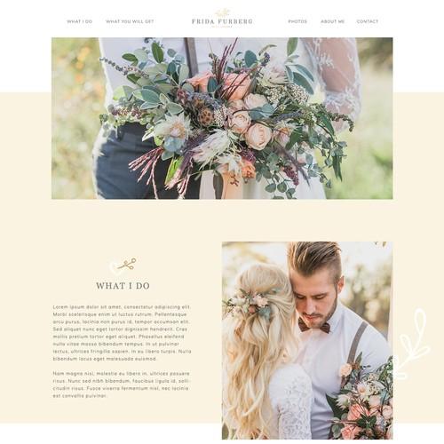 Website for a wedding photographer