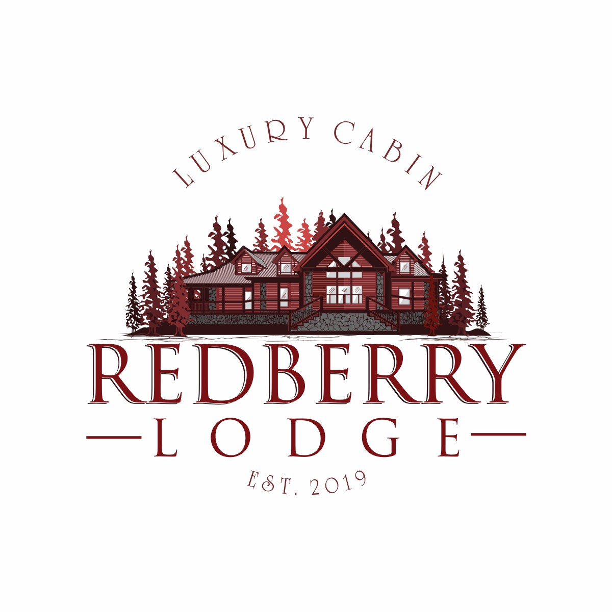 luxury Cabin logo to appeal to families