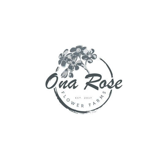 "Logo Design For ""Ona Rose Flower Farms"""