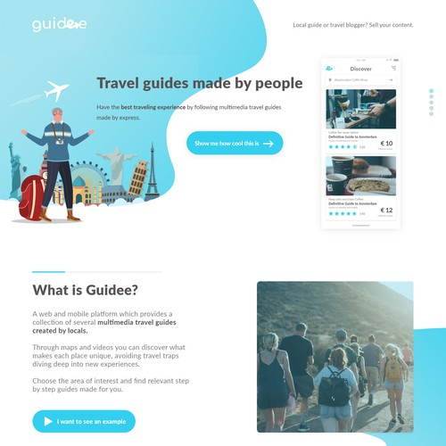 Guidee Clean Landing Page
