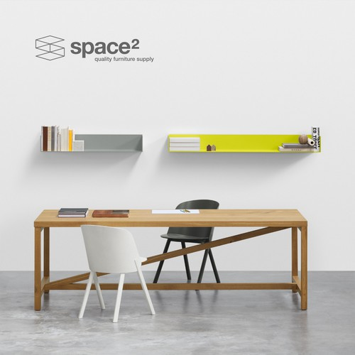 Logo for space² - quality furniture supply.