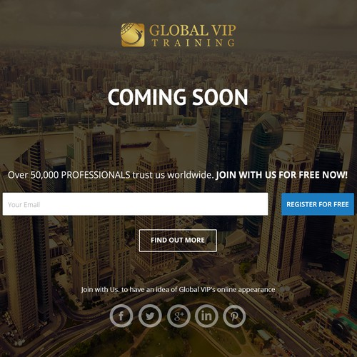 Landing page for global tech savvy VIP executives expecting the best concierge service