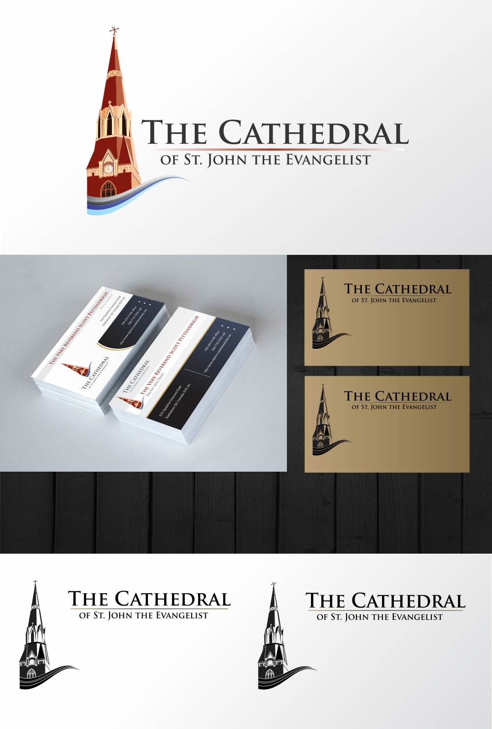 Create a stunning logo for a beautiful Cathedral!