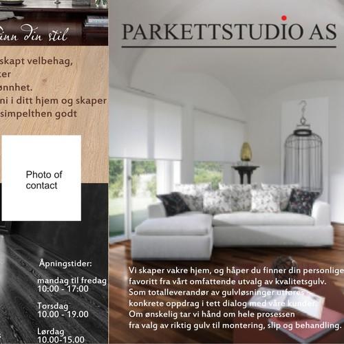 Elegant and minimalistic brochure for Parkett Studio