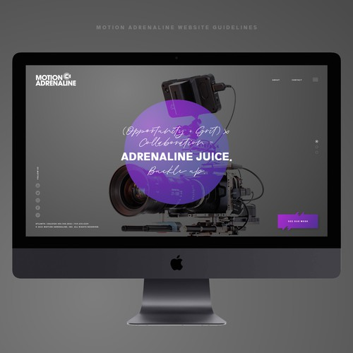 Motion Adrenaline Website guidelines UI/UX