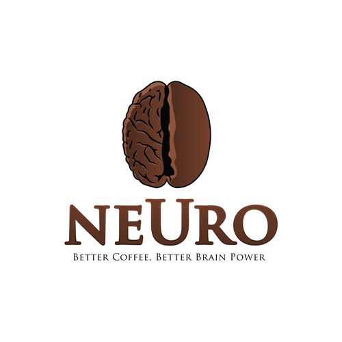 Logo concept for brain enhancing coffee