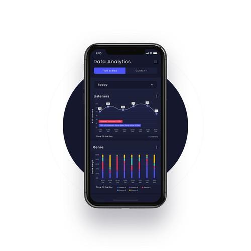 Music data analytics App