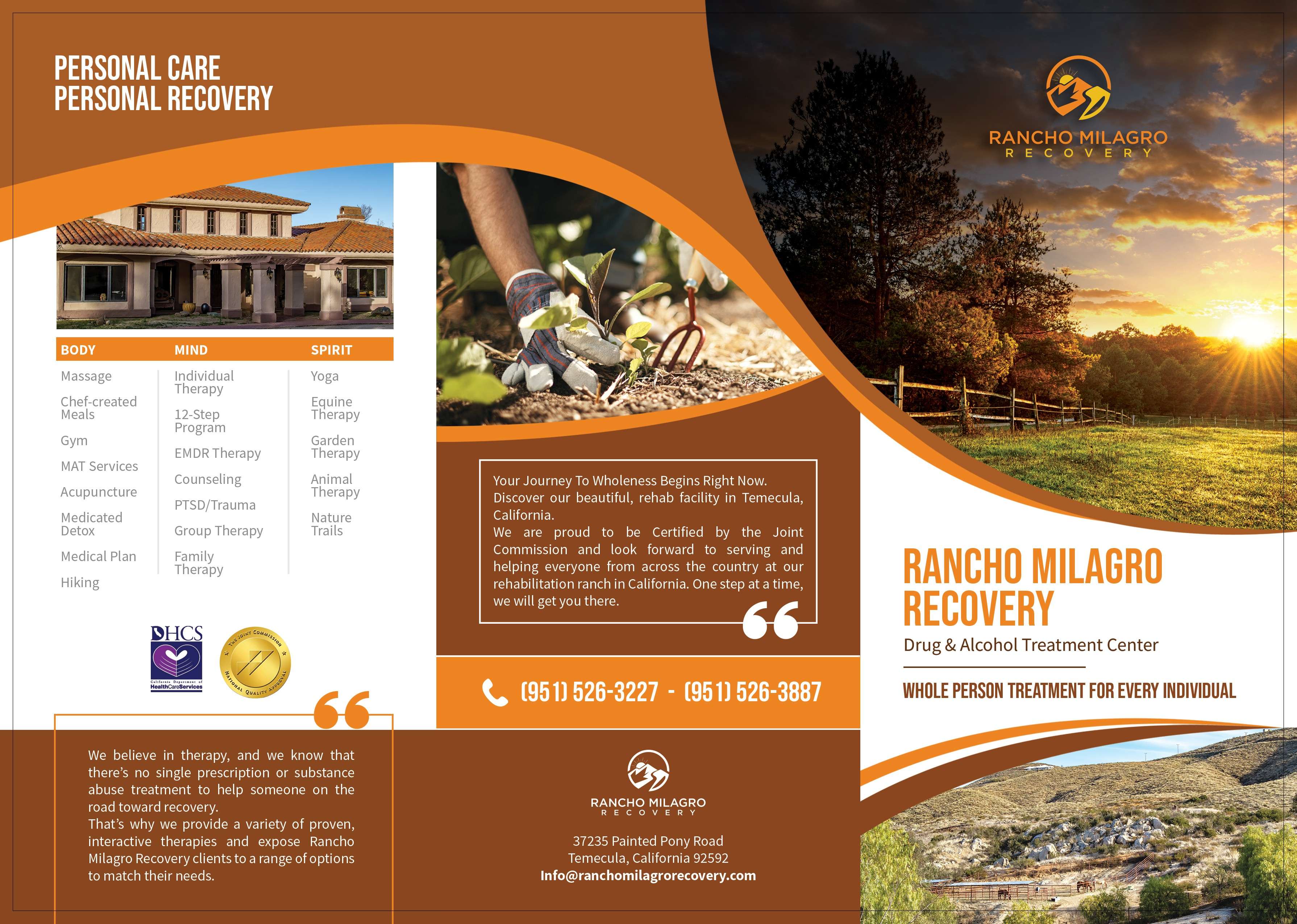 Trifold Brochure for Addiction Recovery Center