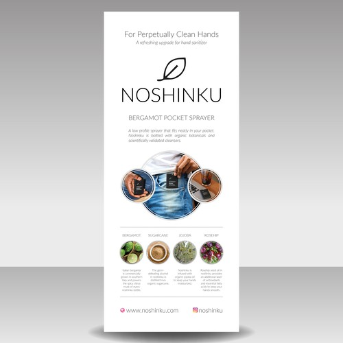 Clean Design for a Roll Up Banner