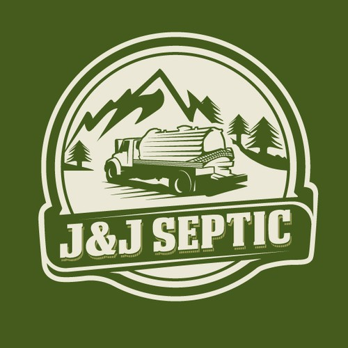 Retro logo for a Septic tank