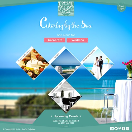 Catering by the sea