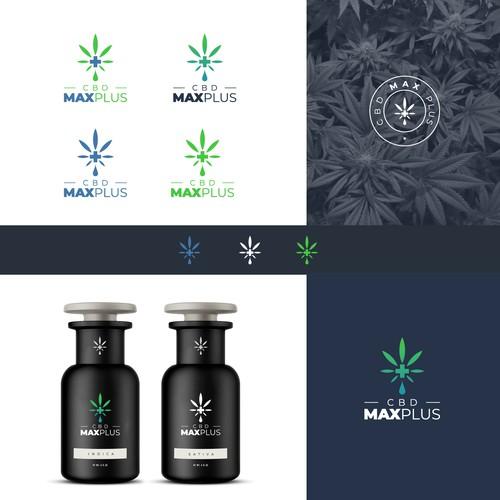 CBD Max Plus logo design