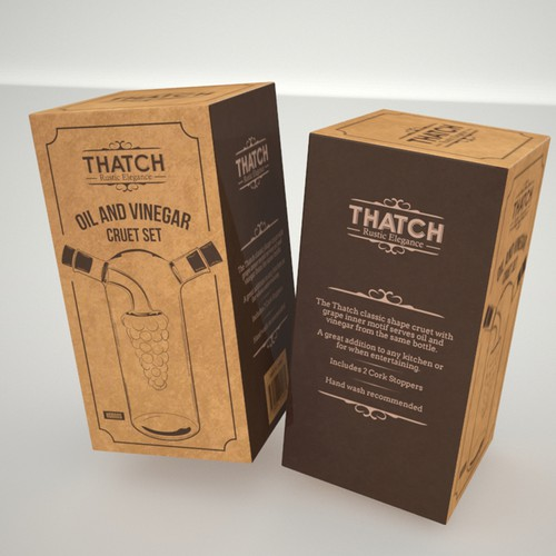 Product Packaging for Thatch Oil and Vinegar Cruet Set