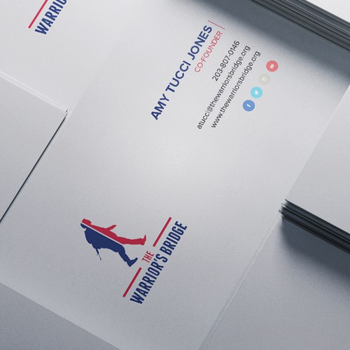 Create a killer business card for a veteran's non profit