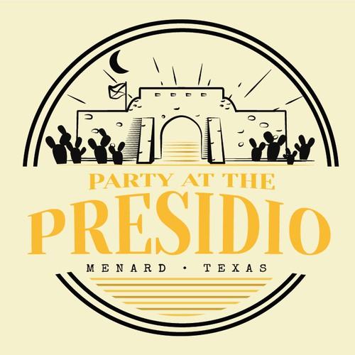 Logo for Party at the Presidio in Menard, Texas.
