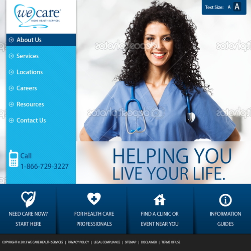 website design for We Care Home Health Services