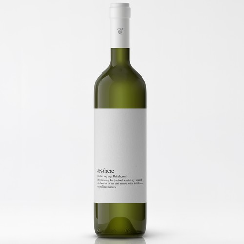 Minimalistic wine label needed