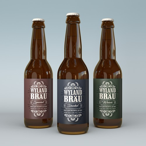 Label Design for Wyland Bräu