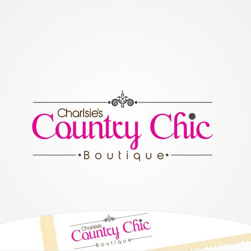 Create the next logo for Charlsie's Country Chic Boutique
