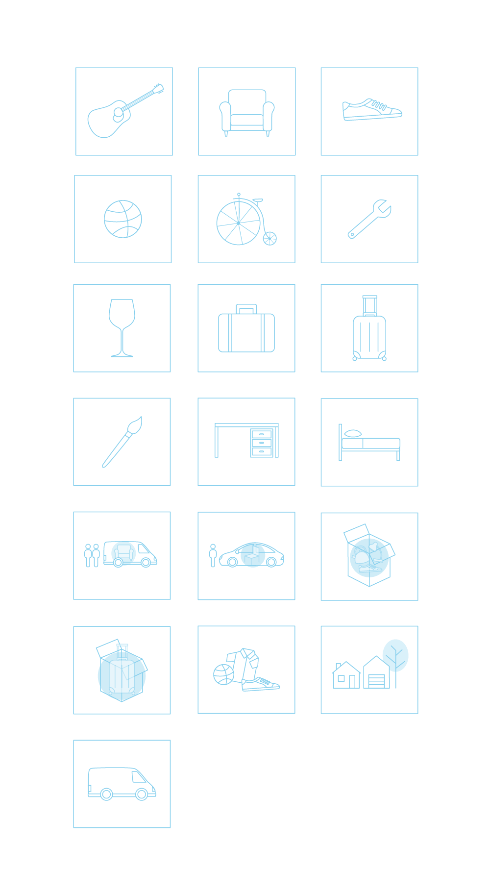 Design Square Icons for Webpage