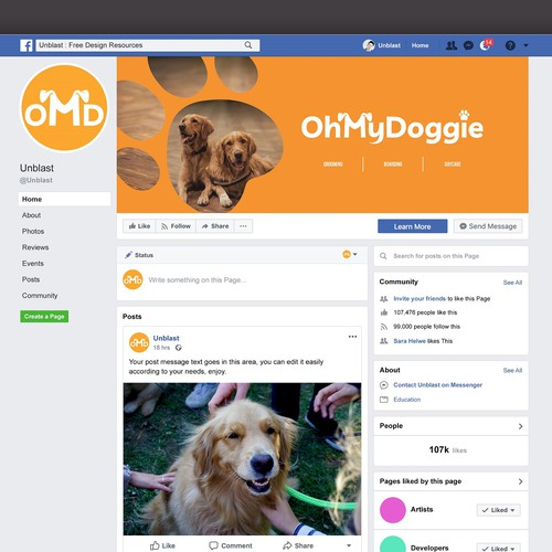 Oh My Doggie needs a powerful cover photo!