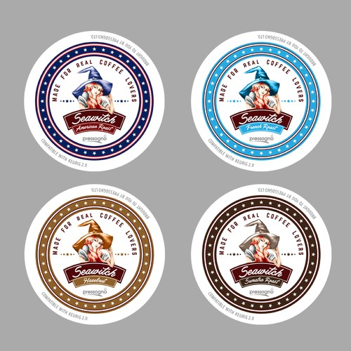 "Graphical artwork for ""K-Cup Coffee Capsule Lid"