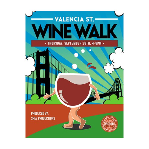 Wine Walk Poster needed for San Francisco's Valencia St. Event