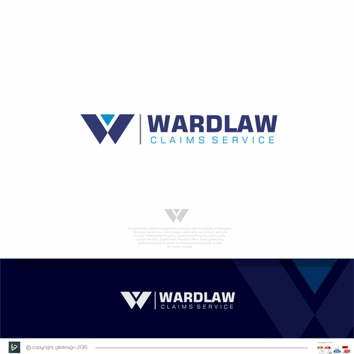 Timeless style logo for wardlaw claims service