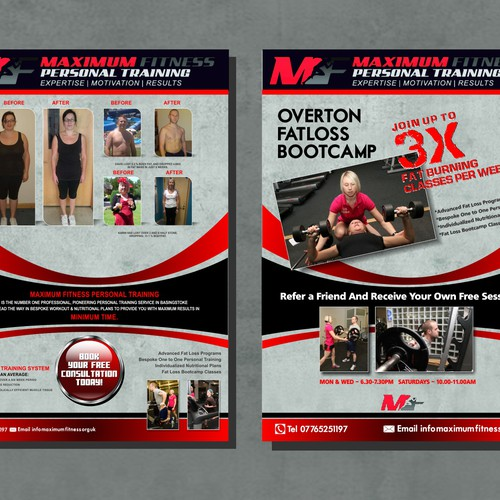 New postcard, flyer or print wanted for MAXIMUM FITNESS PERSONAL TRAINING
