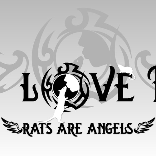 Banner for rat lovers and animal rights activists for t-shirt sale
