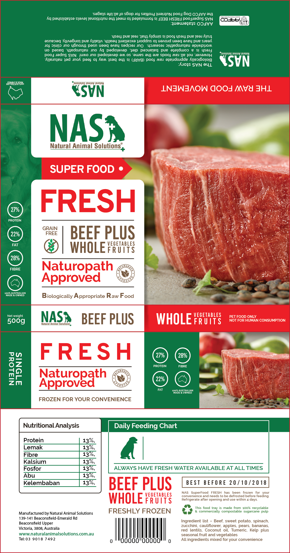 Design a fresh and tasty package for super-premium RAW pet food